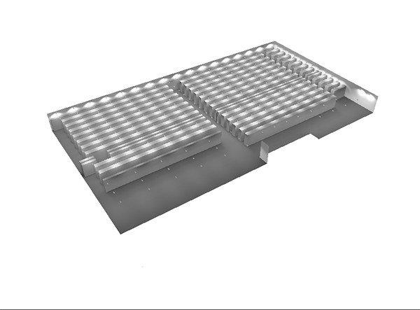 Industrial Light shelf