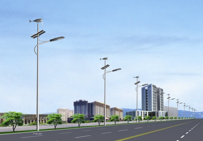 Project of 8M 56W LED Wind Solar Hybrid Street Light (2).jpg