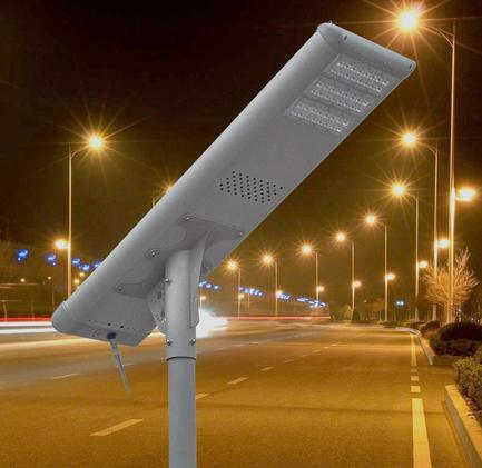 SSL-6000 60W All In One Solar Street Light  for Parking Lots