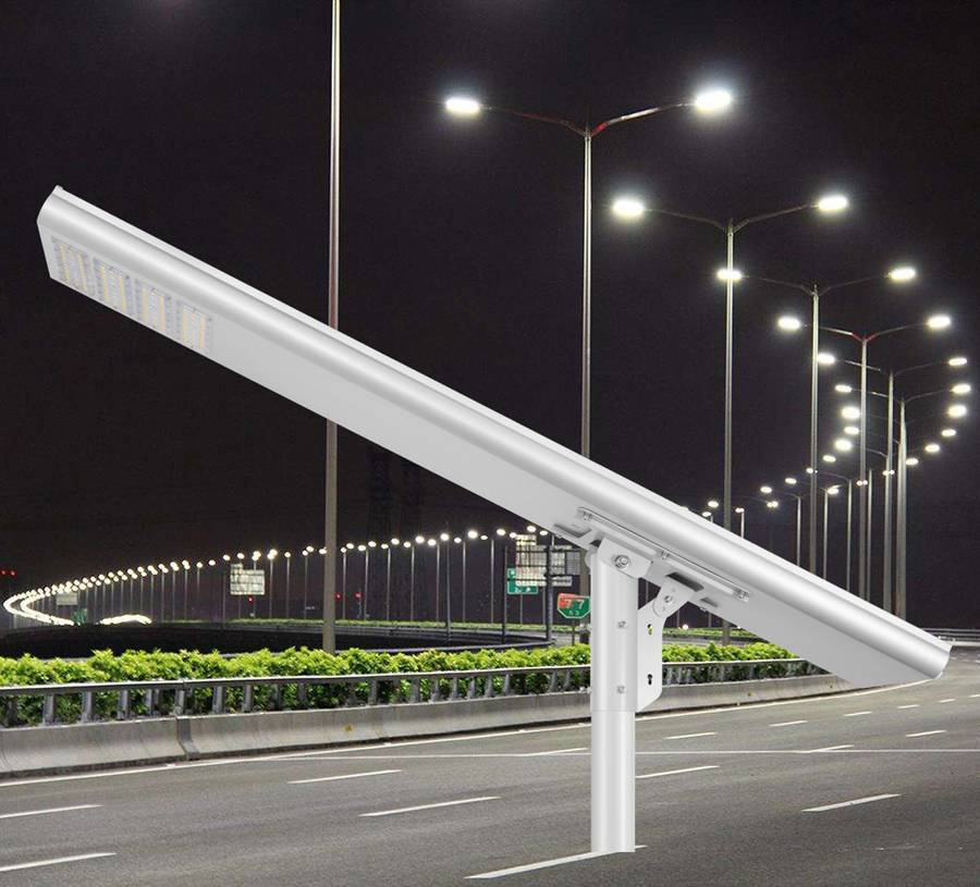 SSL 120W 12000LM Integrated Solar Street Light Outdoor Street Lighting Solar With Smart Controlling System