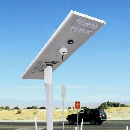 Newly Developed Integrated Solar Street Lights With CCTV Camera Solar Camera