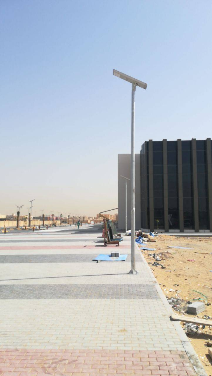 Project of SSL 60W smart solar street light in Fatima collage ,Ajman, UAE