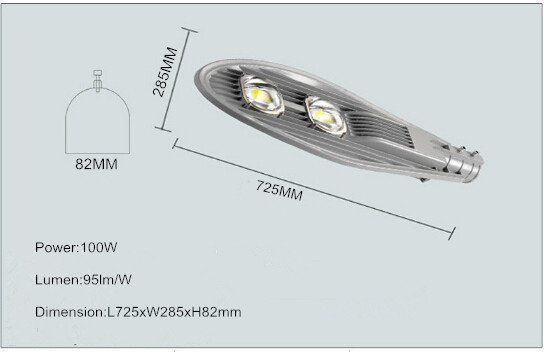 led street light head with 2 led chip