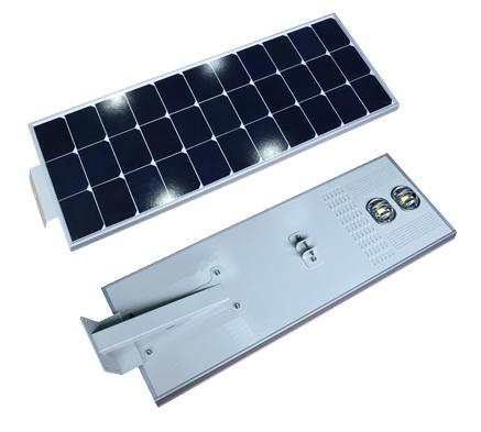 50W 60W  70W COB LED All In One Solar Street Light